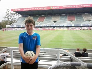 Rory Stenhouse at Ballymore.